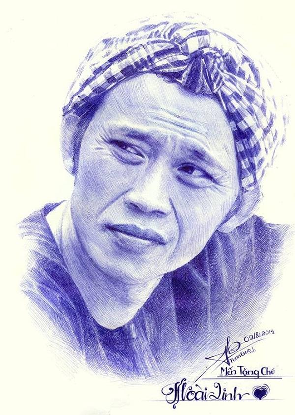Tranh vẽ Hoài Linh của tác giả Đặng Tuấn Bảo