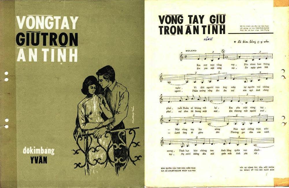 Sheet nhạc Vòng tay giữ trọn ân tình tác giả Đỗ Kim Bảng