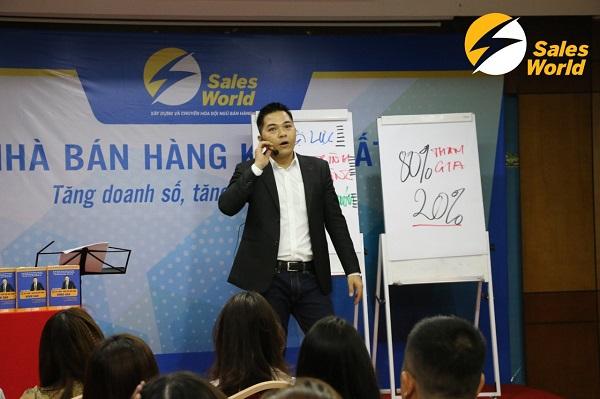 Chuyên gia xây dựng và chuẩn hóa, tự động hóa đội ngũ bán hàng tại Sales World - CEO Võ Văn Đảng.