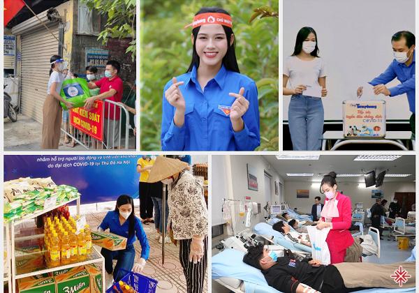 Hoa hậu Việt Nam 2020 - Đỗ Thị Hà tích cực trong các hoạt động thanh niên tình nguyện, từ thiện, đóng góp nhiệt huyết thanh xuân nhỏ bé cho cộng đồng.