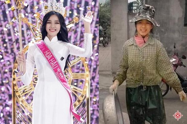 Hoa hậu Đỗ Thị Hà từng gây sốt cộng đồng mạng với hình ảnh trong quá khứ lấm lem bùn đất phụ giúp bố mẹ.