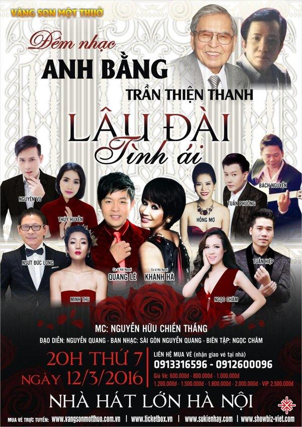 Những đêm ca nhạc tưởng nhớ nhạc sĩ Anh Bằng luôn nhận được sự qua tâm của khán giả.