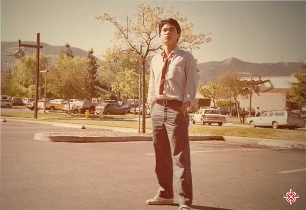 Nhạc sĩ Trúc Hồ thời thanh niên.