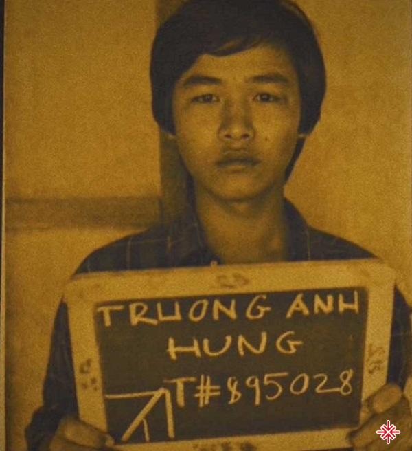 Nhạc sĩ Trúc Hồ khi ở khu tị nạn.