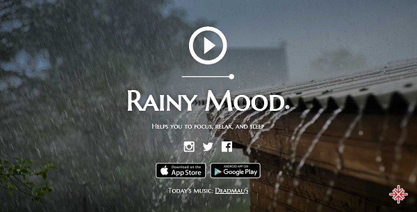 Trang web rainymood.com